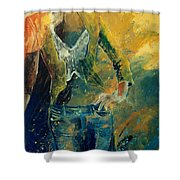 Dinner Jacket Shower Curtain by Pol Ledent