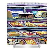 Dinner Pastry Case Shower Curtain