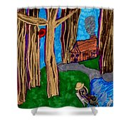 Dinner In The Woods Shower Curtain