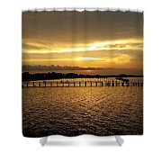 Dinning With Sunset  Shower Curtain