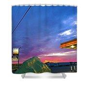 Dino Diesel Shower Curtain