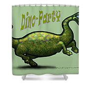 Dino Party Shower Curtain