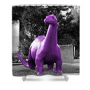 Dino Selective Coloring In Ultra Violet Purple Photography By Colleen Shower Curtain