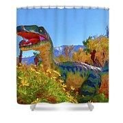 Dinosaur 7 Shower Curtain