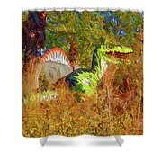 Dinosaur 9 Shower Curtain