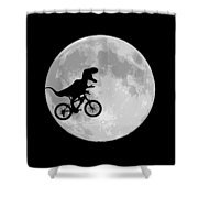 Dinosaur Bike And Moon Shower Curtain