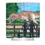 Dinosaur Country Shower Curtain