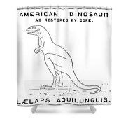 Dinosaur: Dryptosaurus Shower Curtain