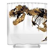 Dinosaur Sepia Print Shower Curtain