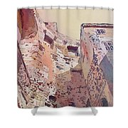 Diocletian Courtyard Shower Curtain
