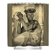 Dionysus Sepia Old Shower Curtain
