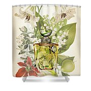 Diorissimo Notes 1 - By Diana Van Shower Curtain
