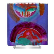 Diptych Shower Curtain