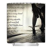 Directed Steps Shower Curtain
