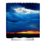 Directionless Familiar I Shower Curtain