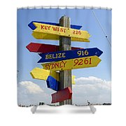 Directions To Paradise Shower Curtain