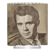 Dirk Bogarde, Vintage Actor By John Springfield Shower Curtain