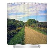 Dirt Road Life Shower Curtain