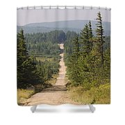 Dirt Road To Dolly Sods Shower Curtain