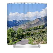 Dirt Road To Serenity Shower Curtain