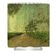 Dirt Road To The Fields Shower Curtain