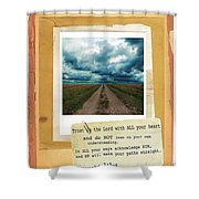 Dirt Road With Scripture Verse Shower Curtain