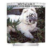 Dirty Dog Birthday Card Shower Curtain