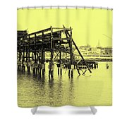 Disappearing Pier Shower Curtain