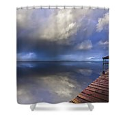 Disappearing Rainbow Shower Curtain by Debra and Dave Vanderlaan