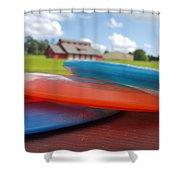 Disc Golf In Auburn Shower Curtain