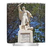 Discalced Carmelite Order  Shower Curtain