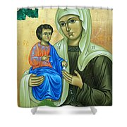 Discalced Carmelite Painting Shower Curtain