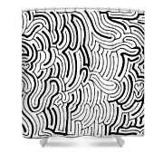 Discordant Shower Curtain