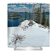 Discovery Point Panorama Shower Curtain