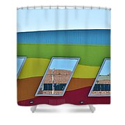Discovery Science Center Window Reflection Shower Curtain