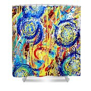 Disintegrated Element Shower Curtain
