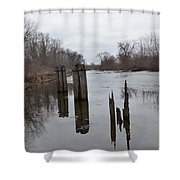 Disintegration Of Time Shower Curtain