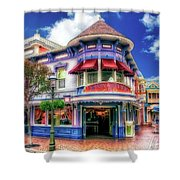 Disney Clothiers Main Street Disneyland 01 Shower Curtain