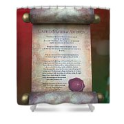 Disney World Christmas In The United States Scroll Shower Curtain