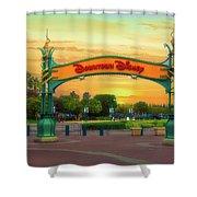 Disneyland Downtown Disney Signage 02 Shower Curtain