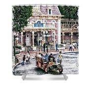 Disneyland Fire Truck Pa 03 Vertical Shower Curtain