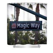 Disneyland Magic Way Street Signage Shower Curtain