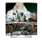 Disneyland Tomorrowland - Pop Color Shower Curtain