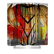 Displaced Doors Shower Curtain