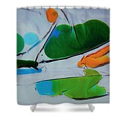 Dissected Flower Shower Curtain