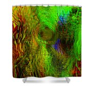 Dissolution Shower Curtain by Linda Sannuti