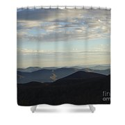 Distance Horizons- Craggy Gardens Nc Shower Curtain