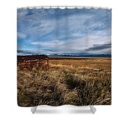 Distant Cabin Shower Curtain