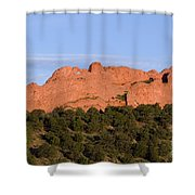 Distant Camels In The Garden Of The Gods Shower Curtain
