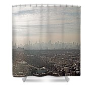 Distant City Shower Curtain